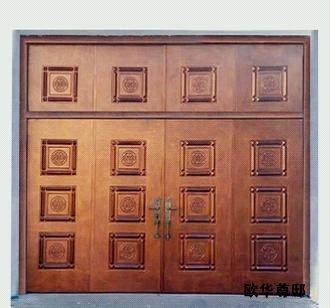 欧华尊邸创造了别墅最宽双开门扇的铸铝门ow世界加州江宁区城图片
