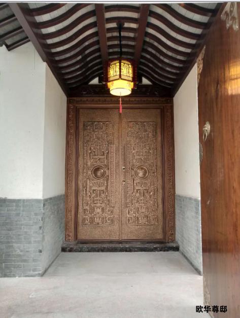 欧华尊邸木质门入驻盐城乔家大院别墅图纸别墅模型下载图片
